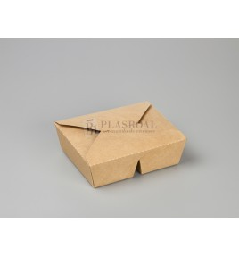 Caja take-away kraft 2 compartimentos 34 o