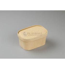 Envases de cartón kraft microondas pp 1000 cc.