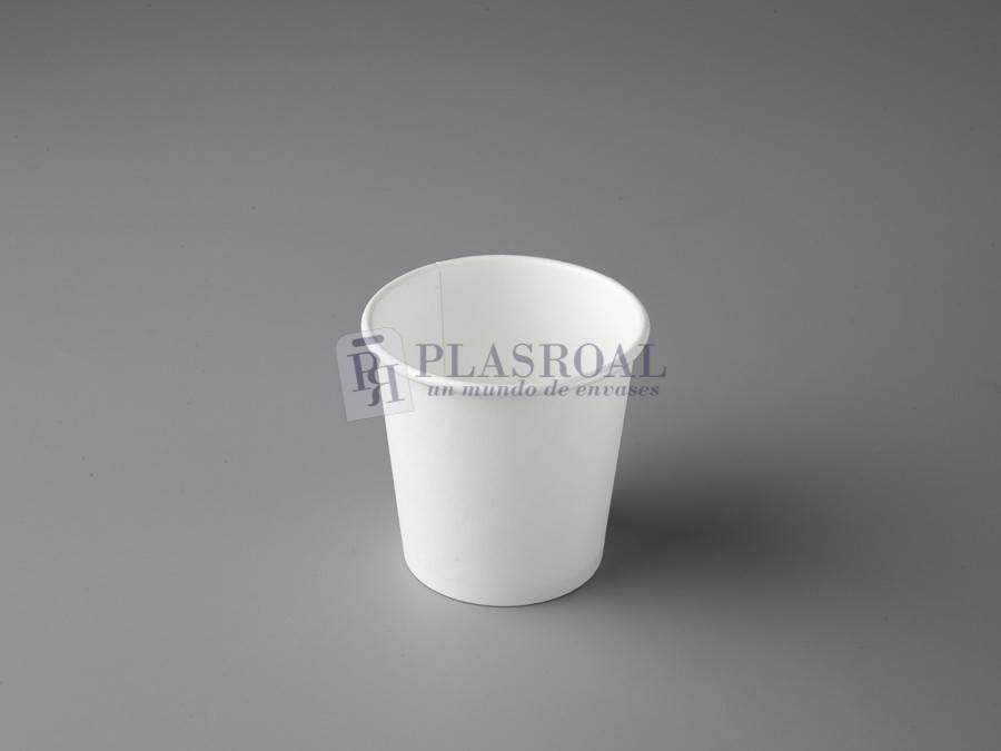 Vaso de cartón pared gruesa blanco 4oz