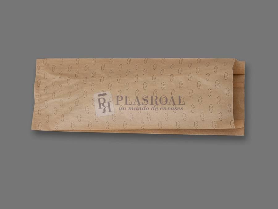 Bolsa de pan papel kraft genérica 18+ 7x50
