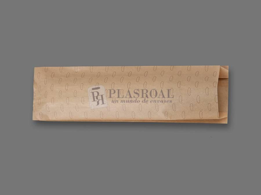 Bolsa de pan papel kraft genérica 15+ 6x50