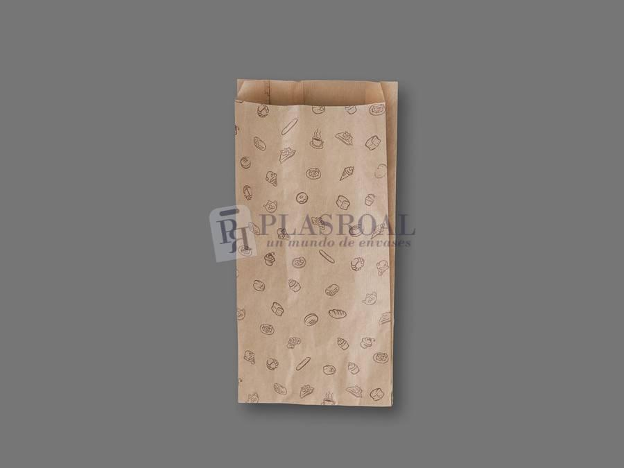 Bolsa de bollería papel kraft genérica 18+ 7x35