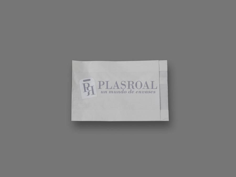 Bolsa de papel antigrasa blanca 15+ 6x20