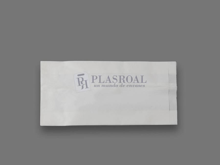 Bolsa de papel antigrasa blanca 15+ 6x31