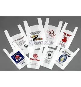 Bolsas de plástico de asa camiseta personalizadas