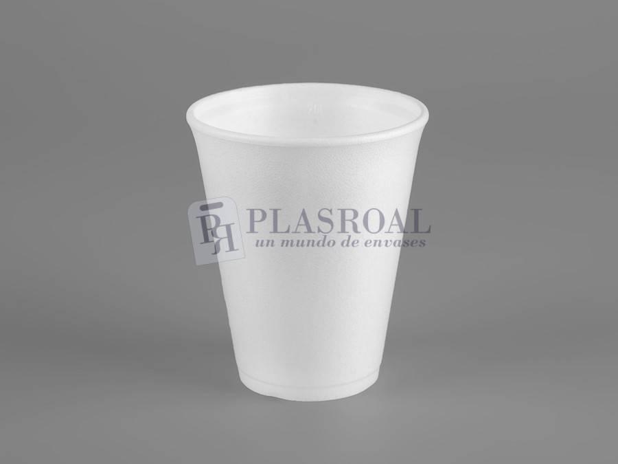Vaso de porex blanco 300cc 10 Oz. 10LX10