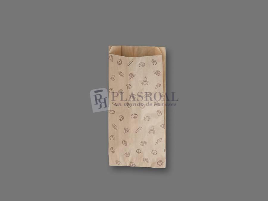 Bolsa de bollería papel kraft genérica 15+ 6x31