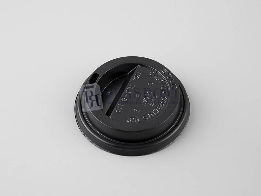 Tapa de plástico solo cup traveler negra 6 y 8oz