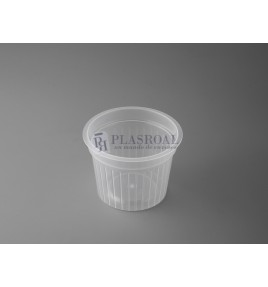 Tarrina redonda plástico pp 100 cc.