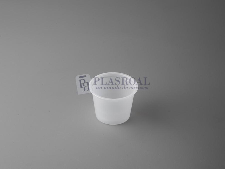 Tarrina plástico redonda ps translúcida 30cc. 1 oz.