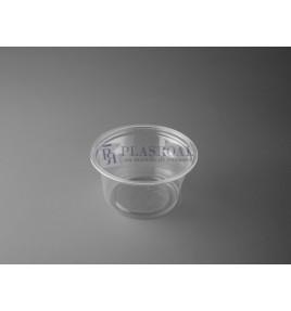 Tarrina plástico redonda pp transparente 120cc. 4 oz.