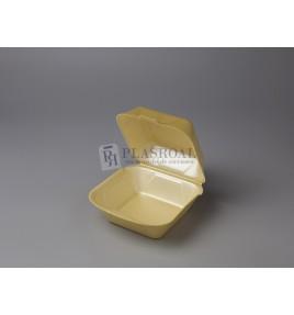 Envase de hamburguesa porex pequeña mp1-ap7