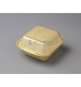 Envase de hamburguesa porex grande  mp2-hp6