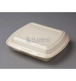 Envase de foam menú 2 compartimentos