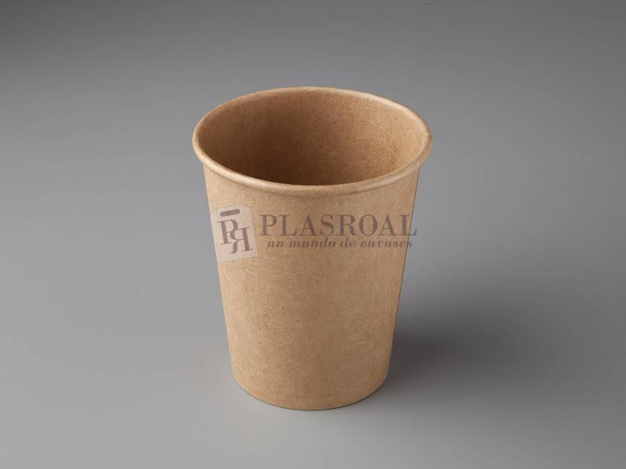 Vaso de cartón pared gruesa eco-kraft 8oz