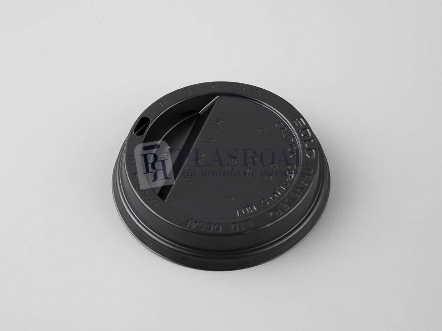Tapa solocup de plástico negra para 12 y 16 oz.