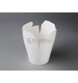 Envase cartón multifood blanco 750 base ancha 125 mm.