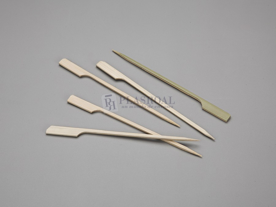"Pincho de bambú natural picks ""golf"" 15cm"
