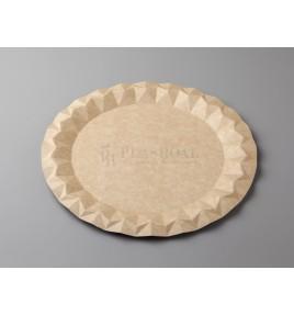 Plato cartón kraft ecológico 29 cm