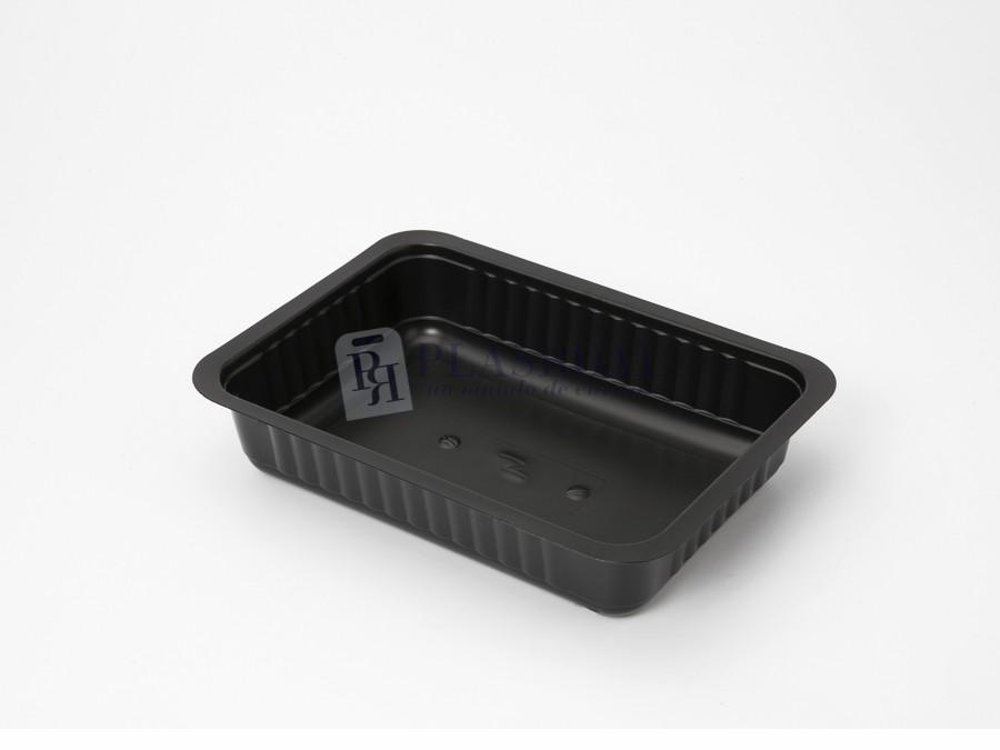 Envase termosellado PP negro 750cc.