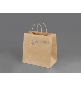 Bolsa Papel Take Away Kraft Asa Retorcida 27x16x26,5