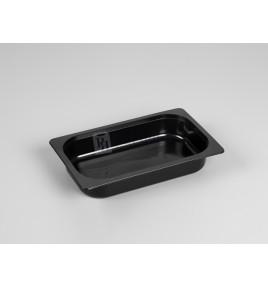Bandeja gastronorm de inyección negra 1/4 45 mm.
