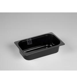 Bandeja gastronorm de inyección negra 1/4 60 mm.