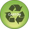 Ecológico de cartón reciclable